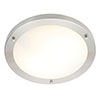 Forum Delphi Large Satin Nickel Flush Ceiling Light Fitting - SPA-34050-SNIC profile small image view 1