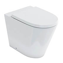Britton Bathrooms Sphere Rimless Back To Wall Pan + Soft Close Seat Medium Image