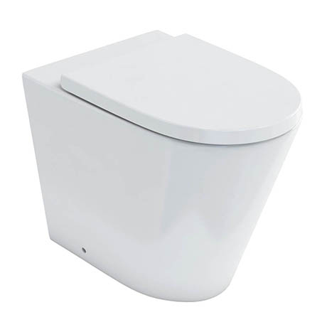Britton Bathrooms Sphere Rimless Back To Wall Pan + Soft Close Seat