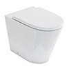 Britton Bathrooms Sphere Rimless Back To Wall Pan + Soft Close Seat profile small image view 1