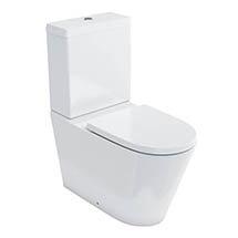 Britton Bathrooms Sphere Rimless Close Coupled Toilet + Soft Close Seat Medium Image