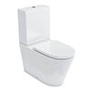 Britton Bathrooms Sphere Rimless Close Coupled Toilet + Soft Close Seat profile small image view 1