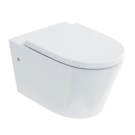 Britton Bathrooms Sphere Rimless Wall Hung Pan + Soft Close Seat
