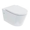 Britton Bathrooms Sphere Rimless Wall Hung Pan + Soft Close Seat profile small image view 1