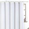 Sparkle W1800 x H1800mm Polyester Shower Curtain - White profile small image view 1