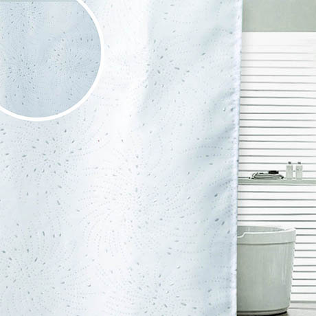 Sparkle Swirl W1800 x H1800mm Polyester Shower Curtain - White