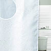 Sparkle Swirl W1800 x H1800mm Polyester Shower Curtain - White profile small image view 1