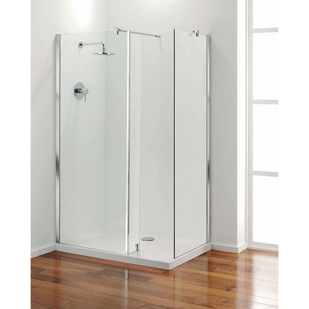 Coram - Stylus Front Glass Shower Panel - Various Size Options Feature Large Image