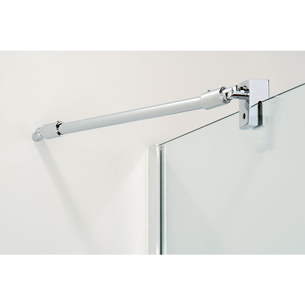 Coram - Stylus Front Glass Shower Panel - Various Size Options additional Large Image