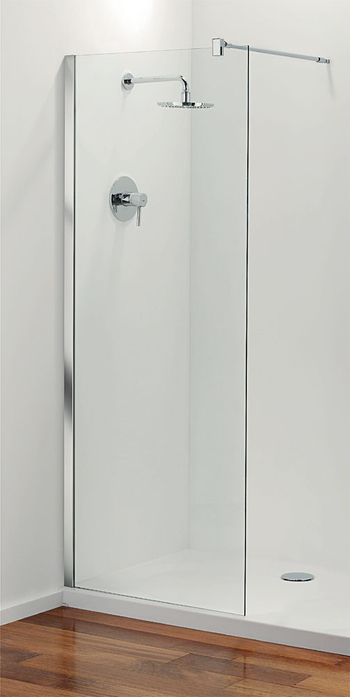 Coram - Stylus Front Glass Shower Panel - Various Size Options Large Image