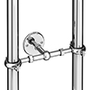 Traditional Chrome Stand Pipe Support Bracket profile small image view 1