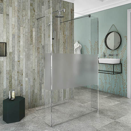 Coram Stylus Wetroom Screen with Modesty Panel