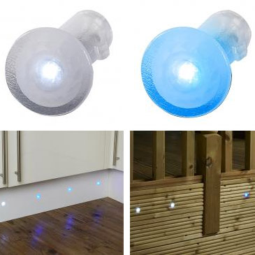 Endon Tuck IP67 Translucent LED Mini Spot Light Kit - 2 Colour Options Large Image