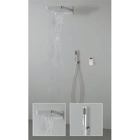 Crosswater Digital Spyker Elite with Fixed Head and Shower Handset - 2 x Colour Options