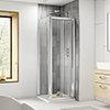 Square Bi-Fold Pacific Enclosure Inc. Shower Tray + Waste profile small image view 1