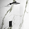 Arezzo Matt Black Square Shower Package with Concealed Valve + Head profile small image view 1