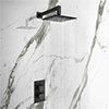Arezzo Matt Black Square Shower Package (inc. Valve, 200 x 200 Square Head and 90-Degree Bend Arm) profile small image view 1