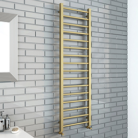 Brooklyn Square 1600 x 500mm Brushed Brass Heated Towel Rail