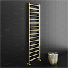 Brooklyn Square 1600 x 500mm Brushed Brass Heated Towel Rail profile small image view 1