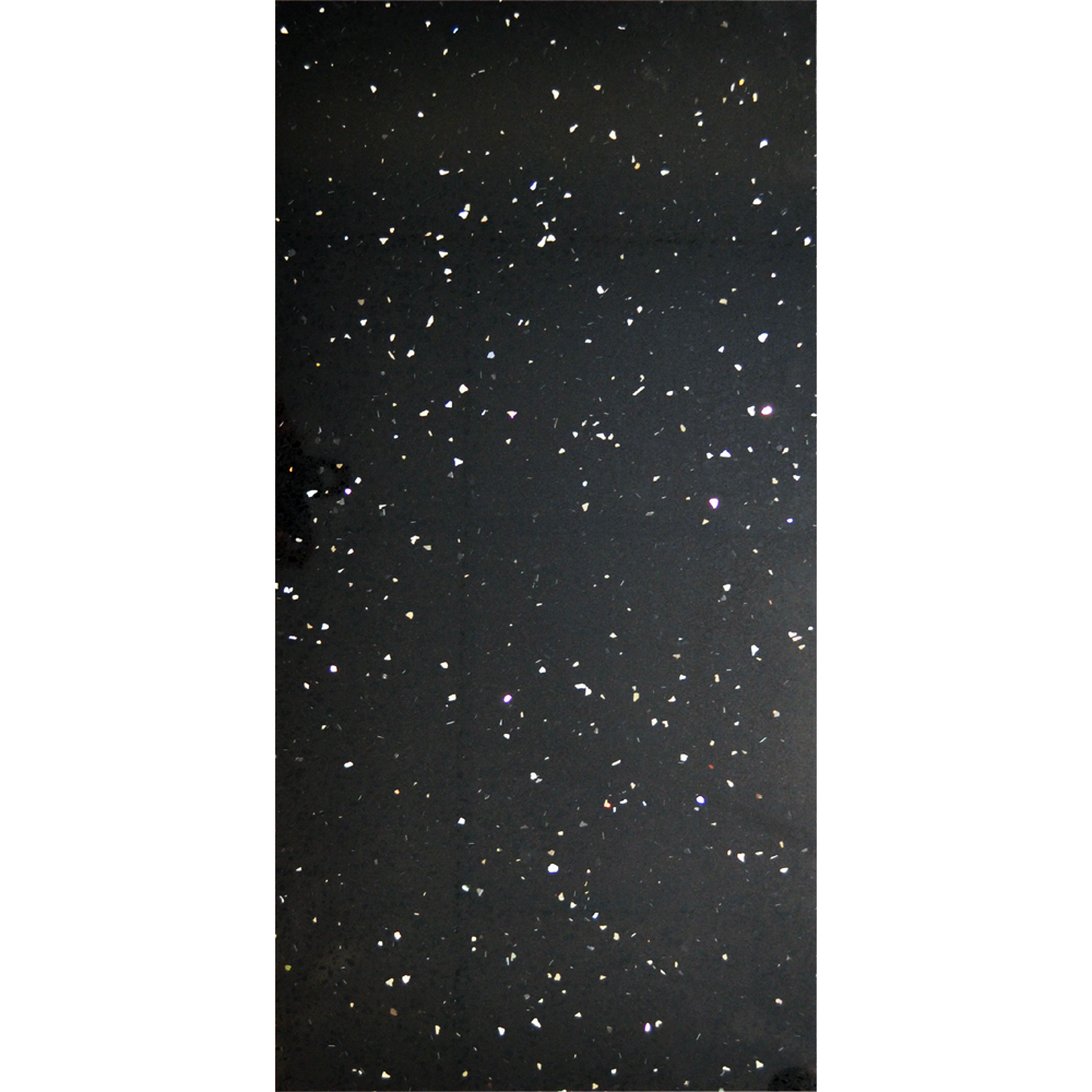 Stardust Quartz Black Wall and Floor Tile - 600 x 300mm Large Image