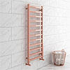 Brooklyn Square 1200 x 500mm Rose Gold Heated Towel Rail profile small image view 1