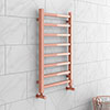 Brooklyn Square 800 x 500mm Rose Gold Heated Towel Rail profile small image view 1