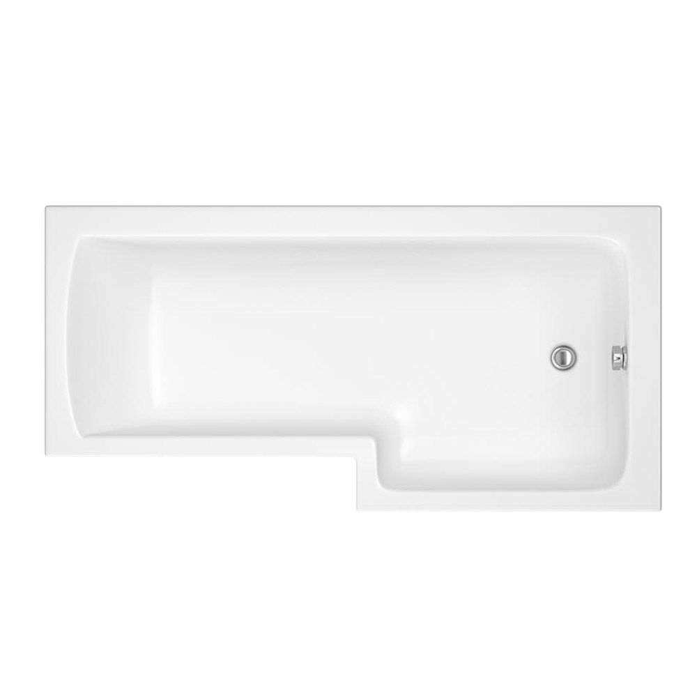 Premier 1500mm L-Shaped Shower Bath R/H with Acrylic Front Panel & Screen profile large image view 2