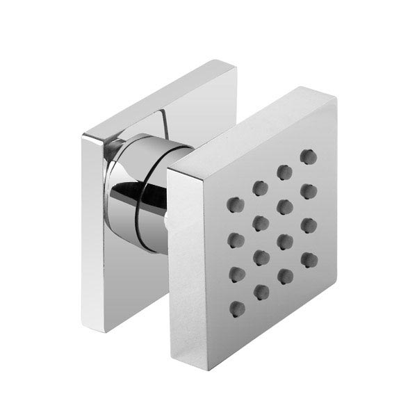 Modern Square Triple Valve with Diverter, Fixed Water Blade Shower Head & 6 Body Jets profile large image view 6