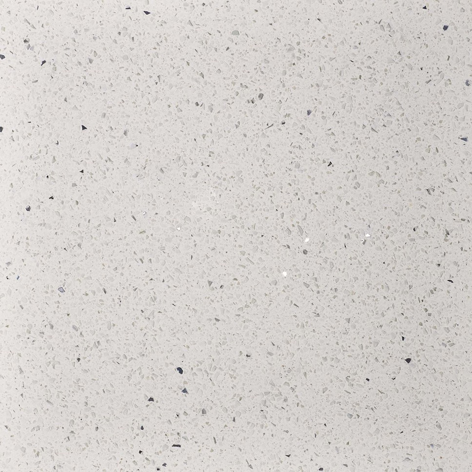 Stardust Quartz White Floor Tile - 600 x 600mm Large Image