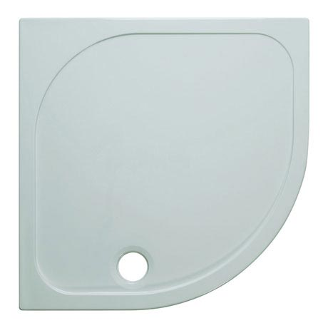 Simpsons Quadrant 45mm Low Level Stone Resin Shower Tray with Waste - Various Size Options