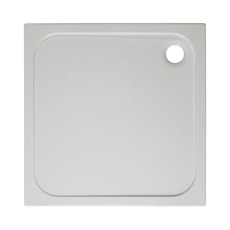 Simpsons Square 45mm Low Level Stone Resin Shower Tray with Waste - Various Size Options