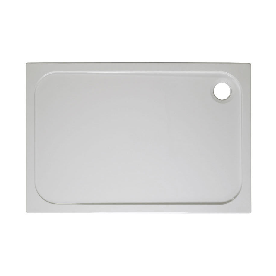 Crosswater Rectangular 45mm Low Level Stone Resin Shower Tray with Waste - Various Size Options
