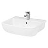 Hudson Reed Fossil 520mm Semi Recessed Basin - SRB003 profile small image view 1