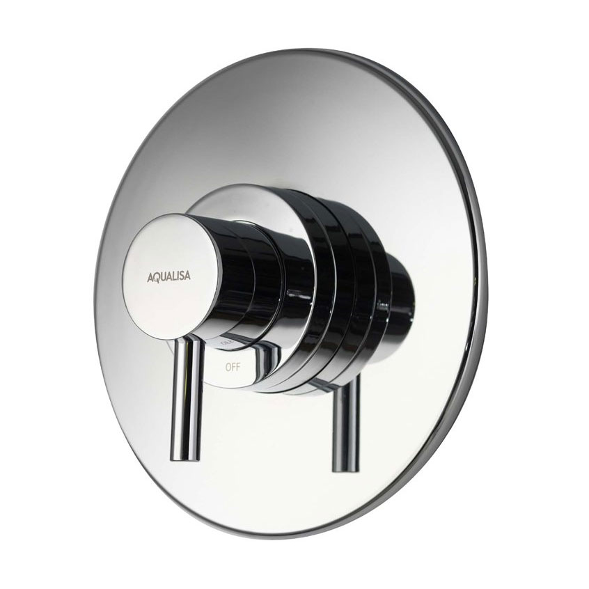 Aqualisa - Siren SL Concealed Thermostatic Shower Valve with Slide Rail Kit - SRN001CA profile large image view 2