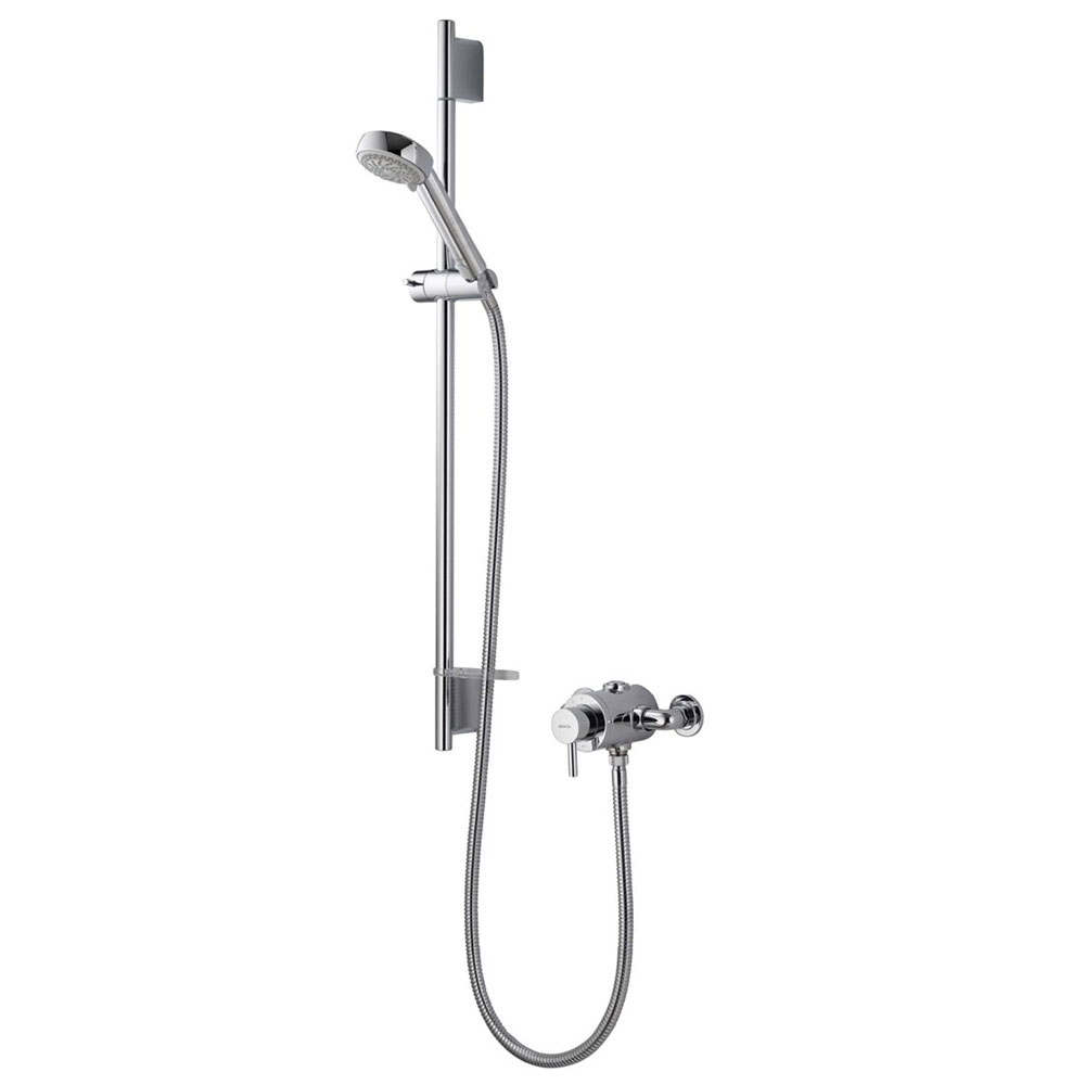 Aqualisa - Siren SL Exposed Thermostatic Shower Valve with Slide Rail Kit - SRN001EA Large Image