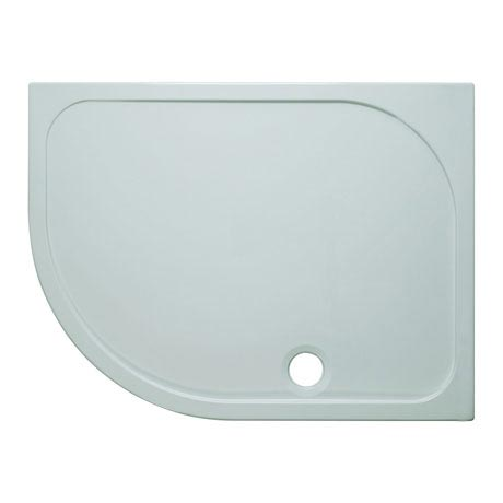 Simpsons Offset Quadrant 45mm Low Level Stone Resin Shower Tray with Waste - Left Hand - Various Size Options