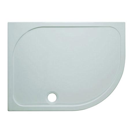 Simpsons Offset Quadrant 45mm Low Level Stone Resin Shower Tray with Waste - Right Hand - Various Size Options