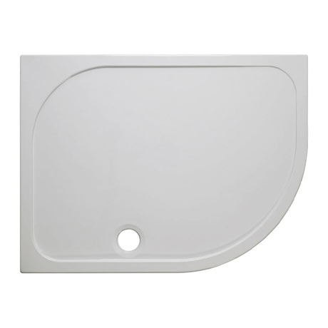 Simpsons Offset Quadrant 45mm Low Level Stone Resin Shower Tray with Waste - Right Hand - Various Si