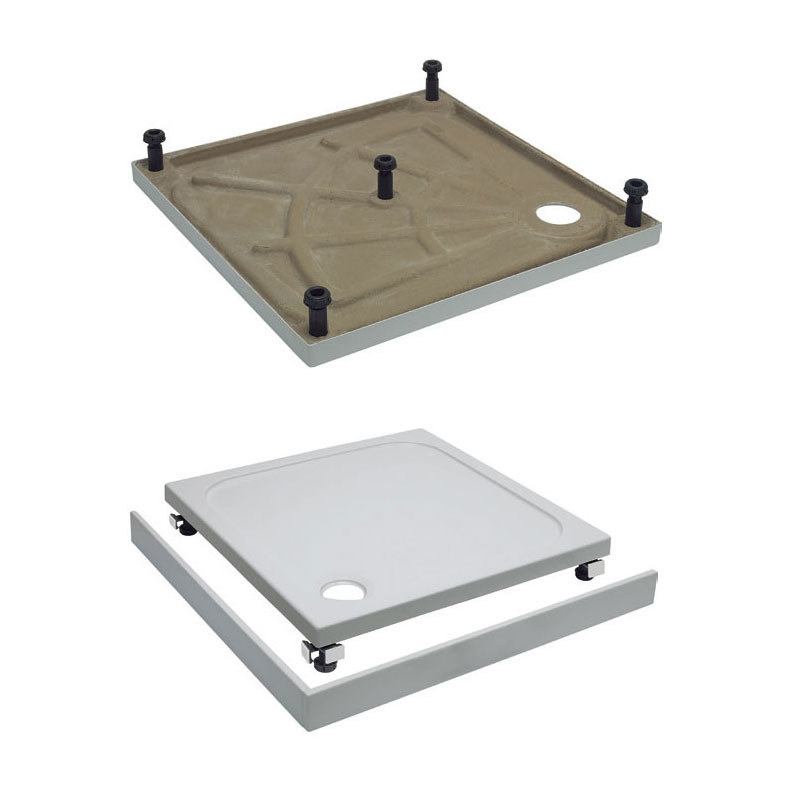 Simpsons Leg & Panel Riser Kit for 45mm Square Shower Tray - Various Size Options Large Image