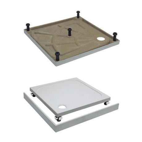 Simpsons Leg & Panel Riser Kit for 45mm Square Shower Tray - Various Size Options