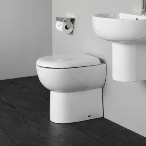 Britton Bathrooms - Compact Back to Wall WC with Soft Close Seat profile large image view 2