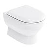 Britton Bathrooms - Compact Wall Hung WC with Soft Close Seat profile small image view 1