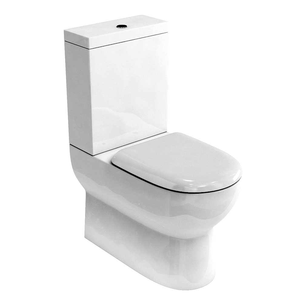 Britton Bathrooms - Compact Close Coupled Toilet & Soft Close Seat Large Image