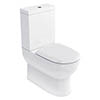 Britton Bathrooms - Compact Close Coupled Toilet & Soft Close Seat profile small image view 1