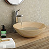 Sandstone 420mm Round Basin 0TH - SS001 profile small image view 1