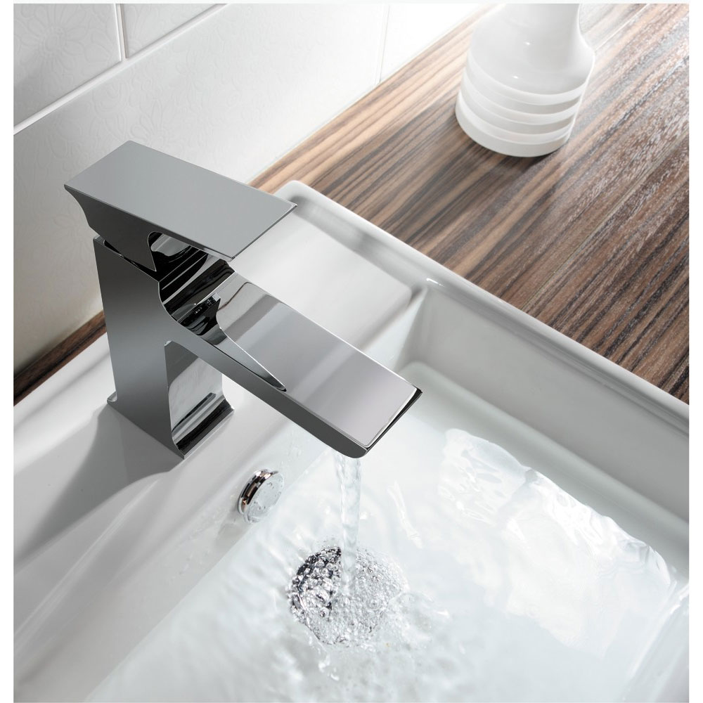 Crosswater - Status Mini Monobloc Basin Mixer - SS114DNC Feature Large Image