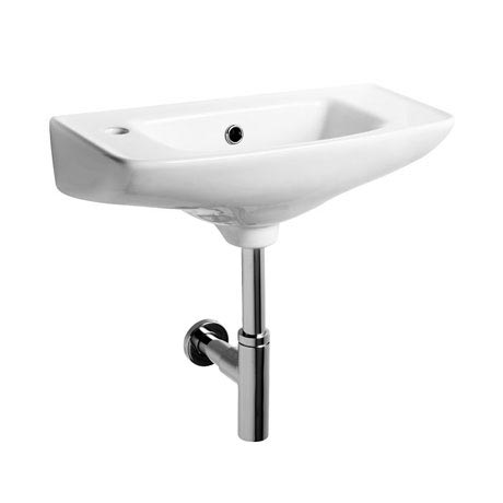 Tavistock Micra 510mm Slimline Ceramic Basin & Bottle Trap - Left or Right Hand Option