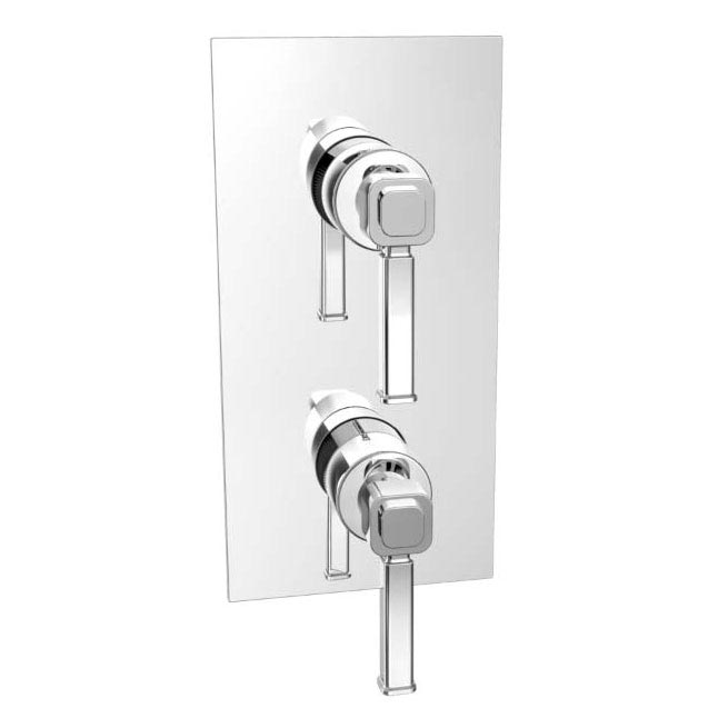 Heritage Somersby Recessed Shower with Deluxe Fixed Head Kit - Chrome - SSOBDUAL02  Profile Large Image