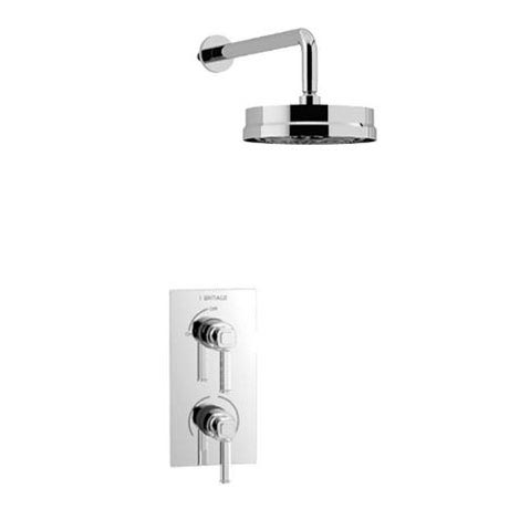 Heritage Somersby Recessed Shower with Deluxe Fixed Head Kit - Chrome - SSOBDUAL02