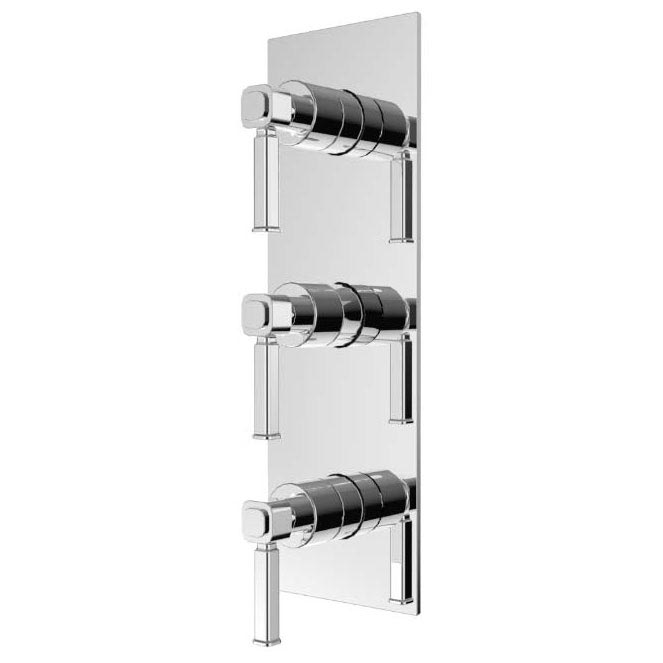 Heritage Somersby Recessed Shower with Deluxe Fixed Head and Flexible Kit - Chrome - SSOBDUAL03 profile large image view 2